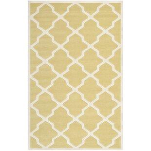 Jennings Wool Light Gold/Ivory Area Rug by Safavieh