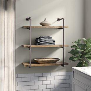 Kennard 3 Tier Industrial Pipe Wall Shelf