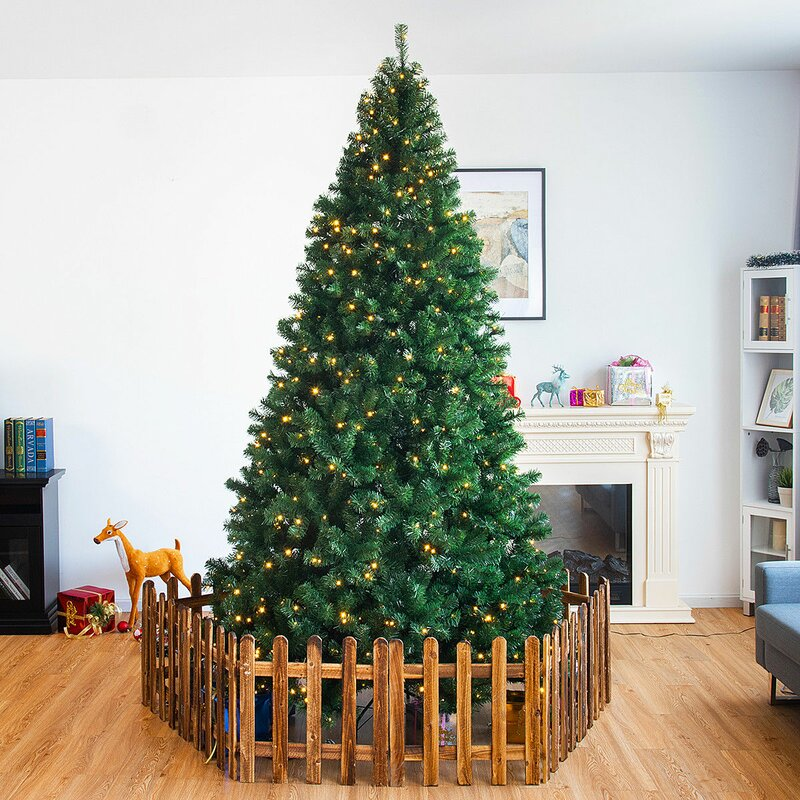Symple Stuff 9' Green Pine Artificial Christmas Tree with 700 Warm ...