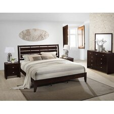 Gloria Panel 5 Piece Bedroom Set by Roundhill Furniture