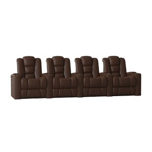 Solid Wood Home Theatre Lounger (Row Of 4) by Latitude Run New