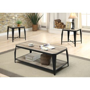 Mullenax 3 Piece Coffee Table Set