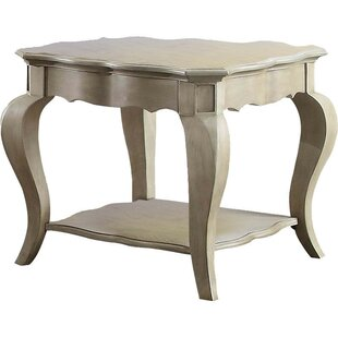 Darby Home Co Lancaer Lower Shelf Wooden End Table