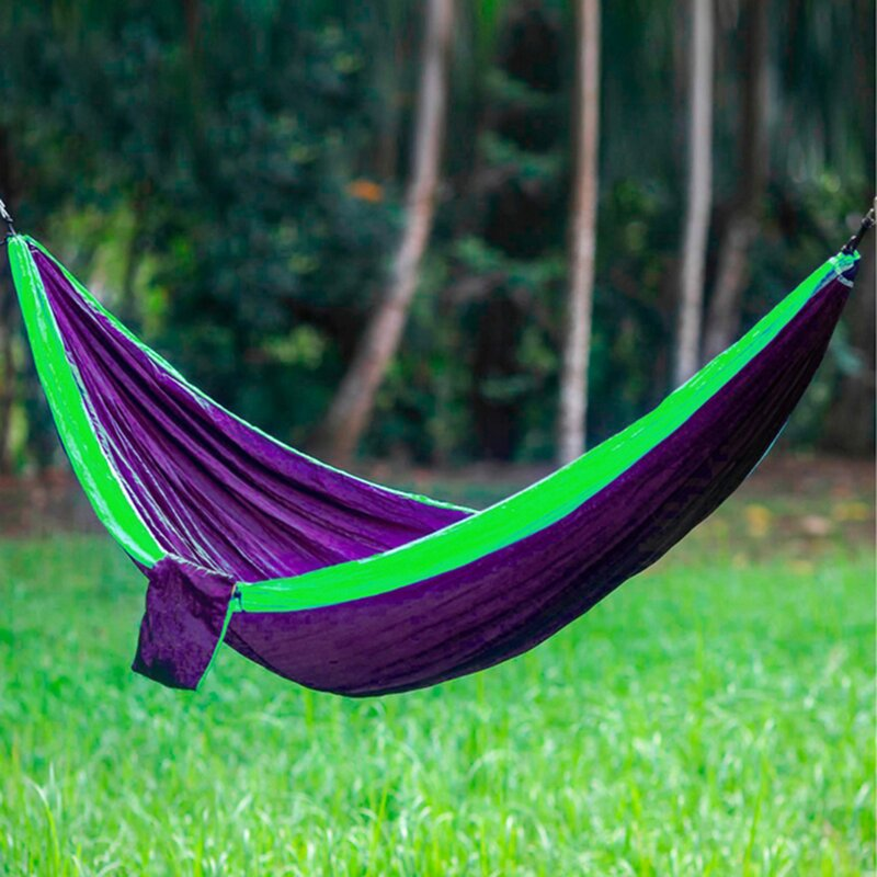 Freeport Park Karley Sports Force Double Camping Hammock  Color: Purple/Lime