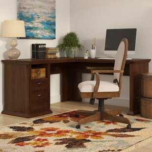 Ferrell L-Shape Executive Desk with Hutch by Three Posts