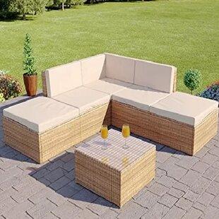 Dominique 6 Seater Rattan Corner Sofa Set Image