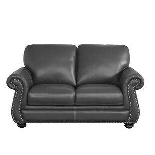 Shop Fairdale Leather Loveseat by Darby Home Co