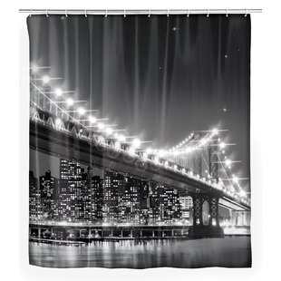 Brooklyn Bridge LED Single Shower Curtain