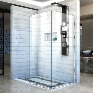 Best Price Linea 34 x 72 Frameless Shower Door with Clearmax™ Technology ByDreamLine