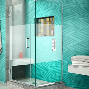Unidoor Plus 33.5 x 72 Hinged Frameless Shower Door with Clear Max Technology by DreamLine
