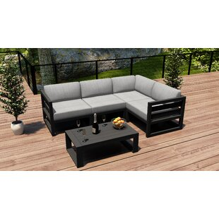 Remi 5 Piece Sectional Seating Group with Sunbrella Cushions by 17 Stories