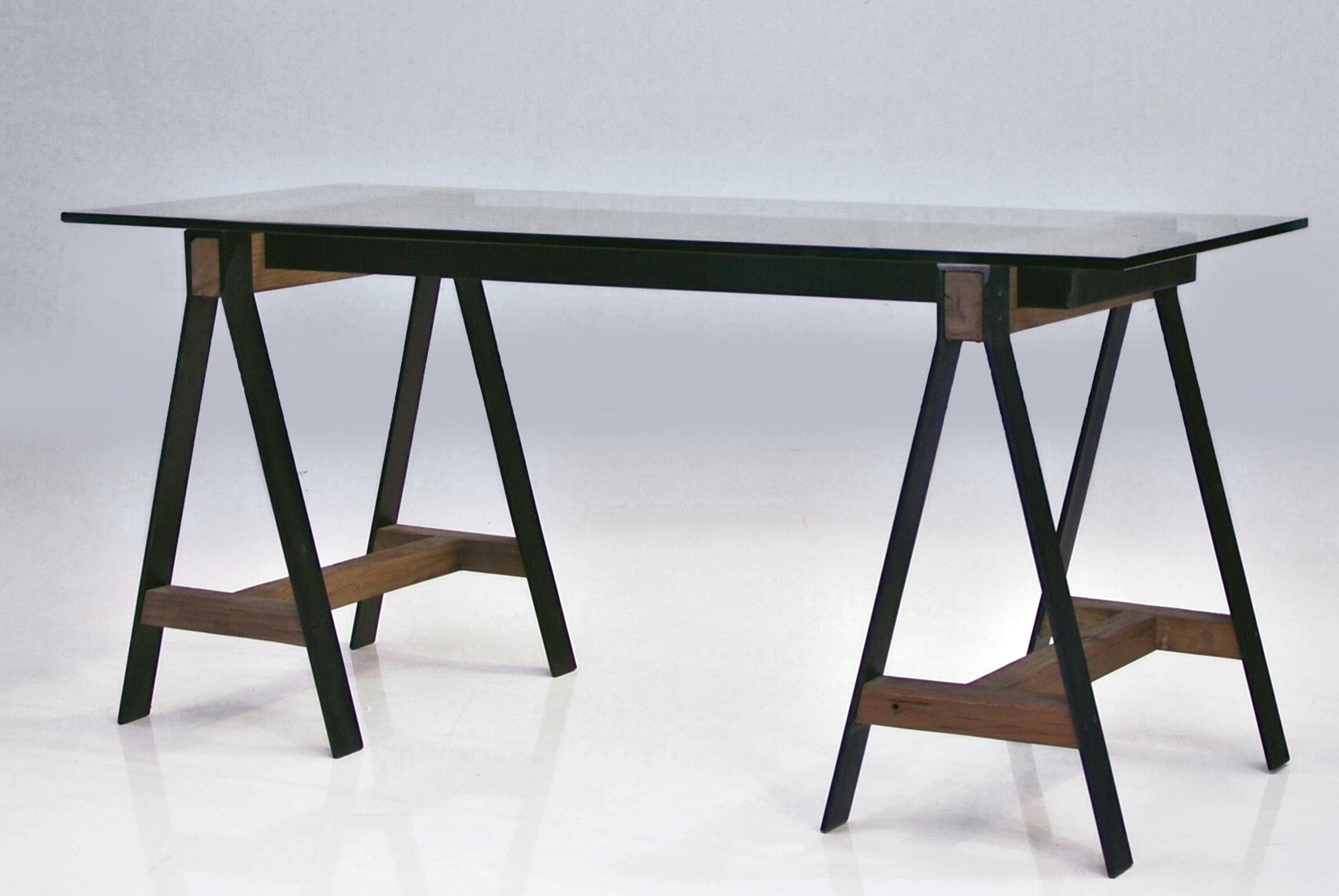 Brayden Studio Menelaus A Frame Reclaimed Solid Elm Wood Writing