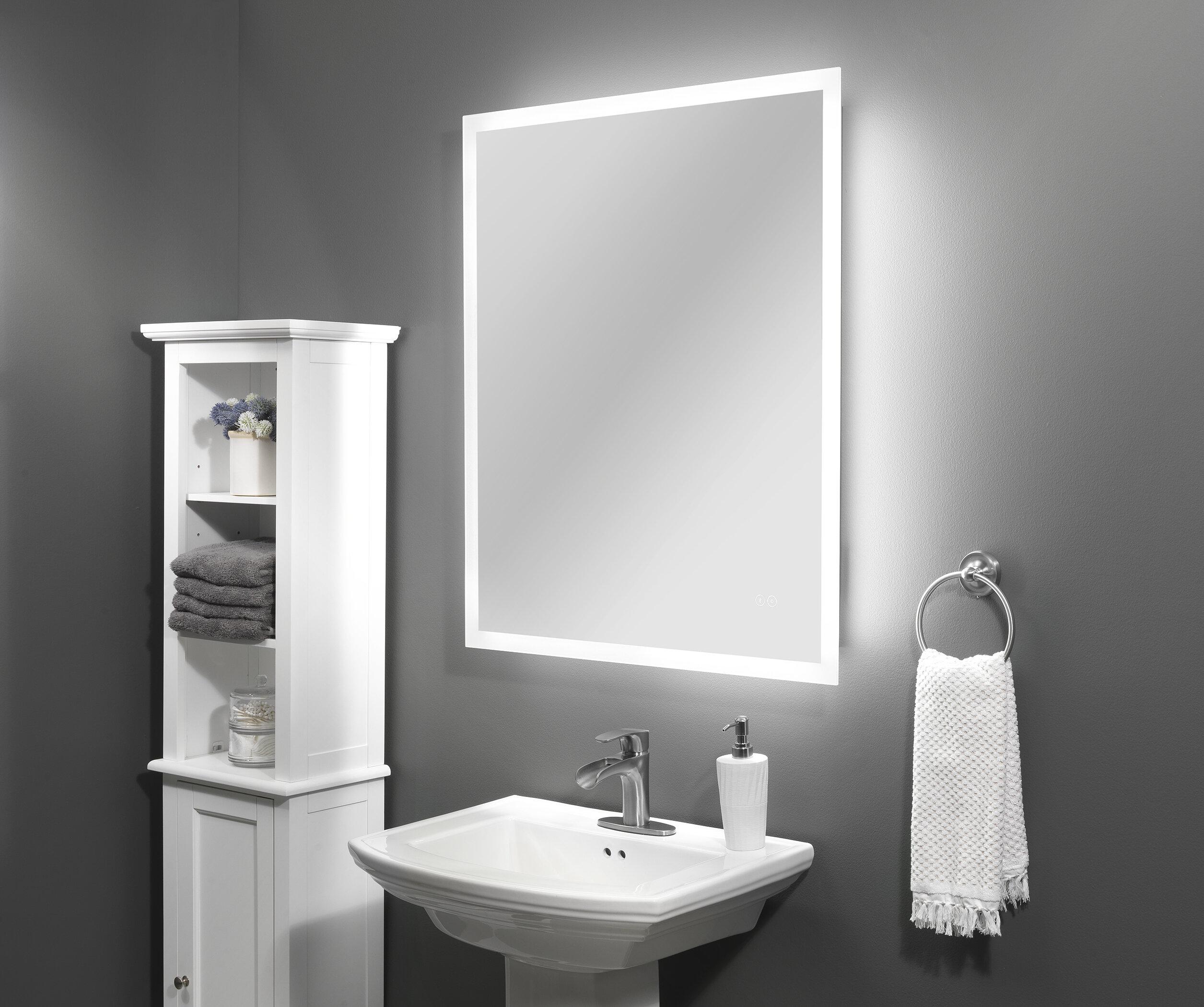 Bathroom mirror led clock switch madrit bluetooth f03