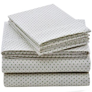 Zariyah Polka Dot Flannel Sheet Set