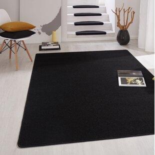 Fancy Black Stair Tread (Set of 15) by Hanse Home