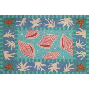 Cloverfield Shells and Coral Area Rug