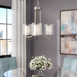 Reviews Bensenville 3-Light Shaded Chandelier By Mercury Row