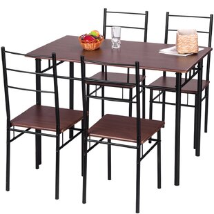 5 Piece Breakfast Nook Dining Set by Merax Today Sale Only