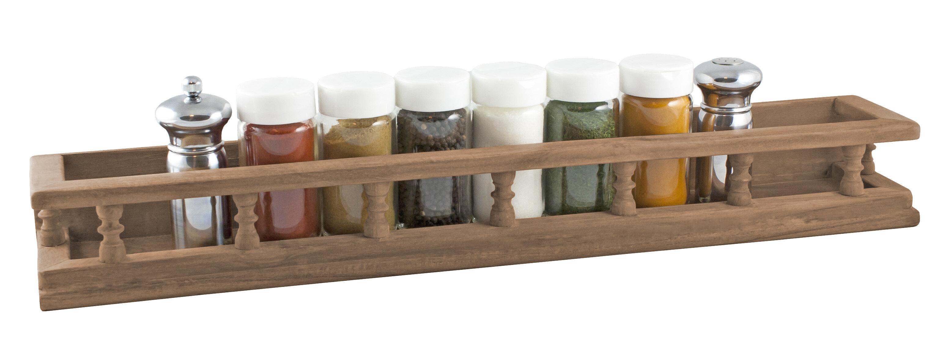 White 4pcs 20-Clips Kitchen Spice Jar Rack Seasoning Jar Storage Holder Cupboard Door Cabinet Wall Mounted Gizayen Spice Racks Wall Mounted