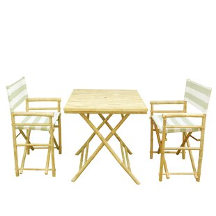 Bamboo 3 Piece Outdoor Dinning Set by ZEW..