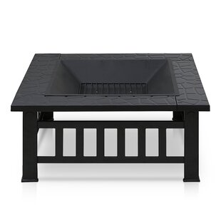 Madge Steel Wood Burning Fire Pit Table Image