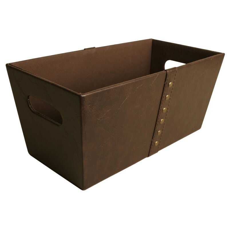 Gracie Oaks Luxurious Faux Leather Cube