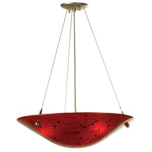 Meyda Tiffany Metro Fusion Luce Rossa 3-Light Bowl Pendant