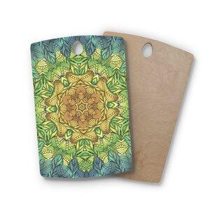 Art Love Passion Birchwood Celtic Golden Flower Geometric Cutting Board