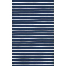 ranier pinstripe handwoven navy area rug