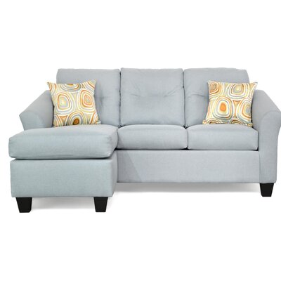 Desales Reversible Sectional Upholstery Color: Jitterbug Skymist by Andover Mills