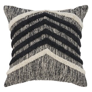 Chute Fringe Metallic Cotton Throw Pillow