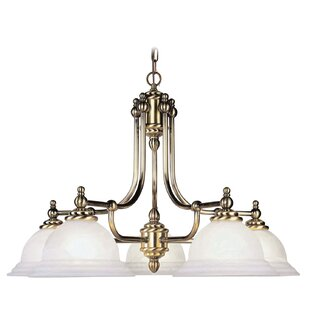 Brunette Contemporary 5-Light Shaded Chandelier by Alcott Hill