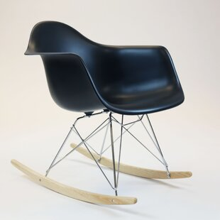 Anastasia Steel and Wooden Rocking Chair by Wrought Studio