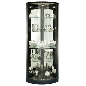Jaime Lighted Corner Curio Cabinet by Howard Miller®
