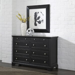Marblewood 8 Drawer Double Dresser by Alcott Hill