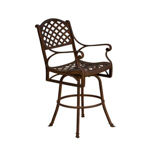 California Outdoor Designs La Jolla Patio Bar Stool with Cushion (Set of 2)