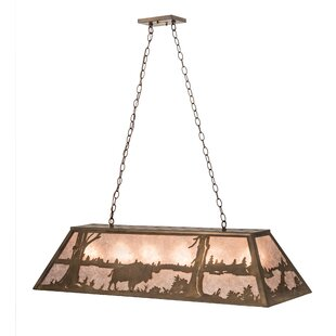 Meyda Tiffany Buffalo at Lake 9-Light Pendant
