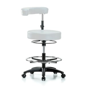 Height Adjustable Dental Stool With Procedure Arm And Foot Ring by Perch Chairs & Stools Today Sale Only