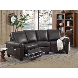 Arlington Leather Reclining Sectional by HYDELINE 2019 Online
