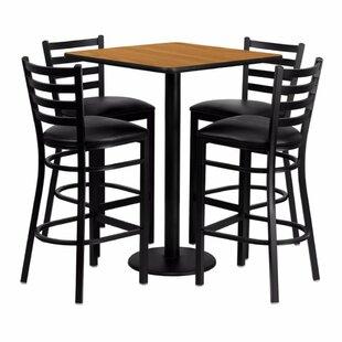Red Barrel Studio Pinckneyville 5 Piece Pub Table Set