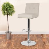 Blanco Swivel Adjustable Height Bar Stool