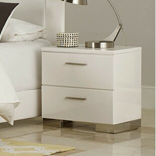 Volkmar Wooden 2 Drawer Nightstand by Latitude Run