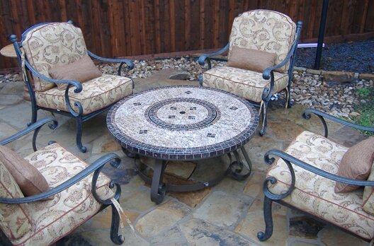 Beau Wrought Iron Wood Burning Fire Pit Table