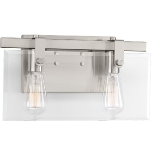 Where buy  Bridgewood 2-Light Vanity Light By Breakwater Bay