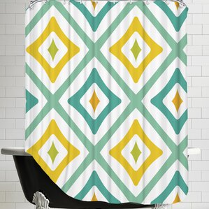Shower CurtainYellow   Gold Shower Curtains You ll Love   Wayfair. Yellow And Teal Shower Curtain. Home Design Ideas