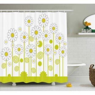 Daisy Flowers Single Shower Curtain