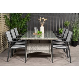 Adhelin 6 Seater Dining Set By Bloomsbury Market
