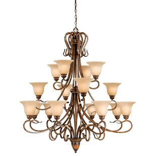 Fleur De Lis Living Brose 16-Light Shaded Chandelier
