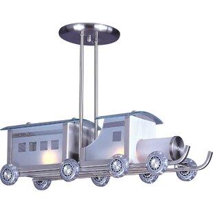 Zoomie Kids Kingsview Childrens Train 2-Light Novelty Pendant