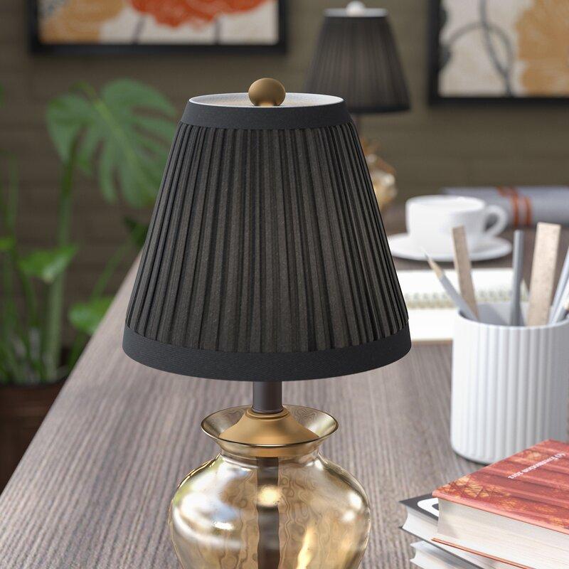 Winston Porter 5 H Silk Shantung Empire Lamp Shade Clip On Reviews Wayfair
